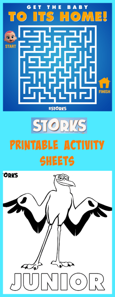 Storks Printable Activity Sheet