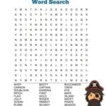 FREE Printable Pirate Word Search Puzzle
