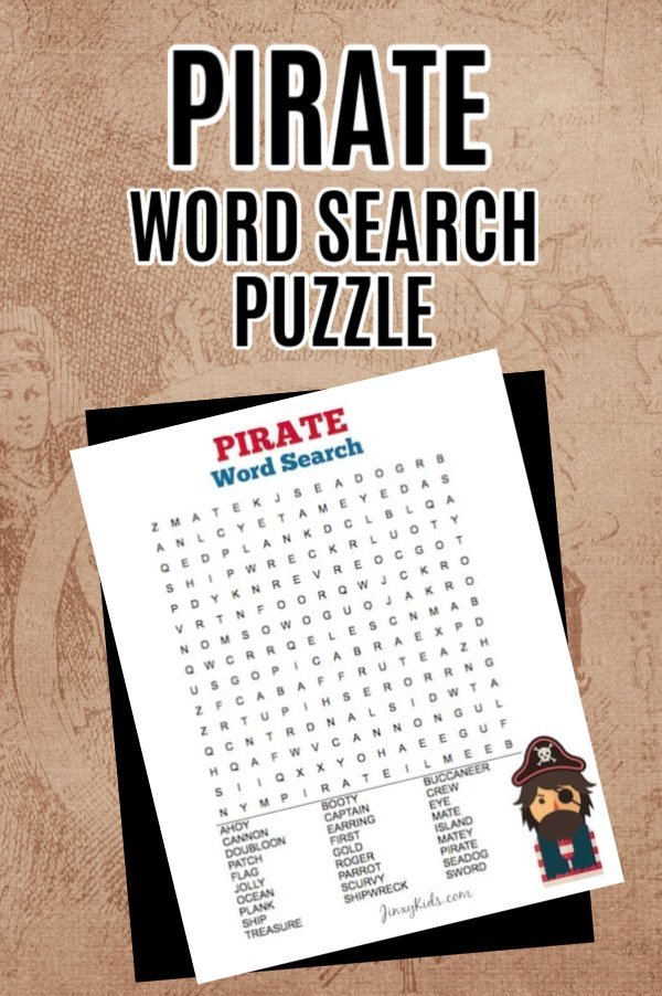 Pirate Word Search Puzzle PIN