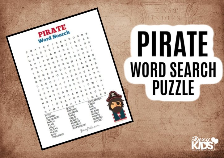 Pirate Word Search Puzzle