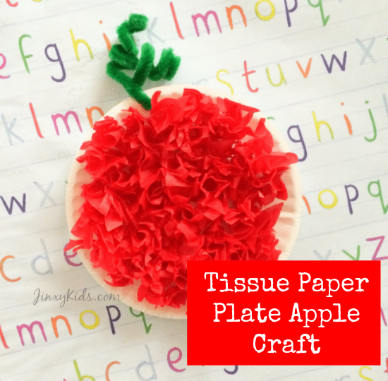 tissue-paper-plate-apple-craft