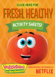 Veggie Tales in the House Printable Activity Sheets