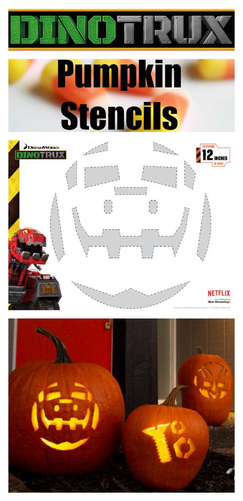 Dinotrux Pumpkin Stencils - Carve a Ty or Dozer Halloween Jack-o-Lantern!