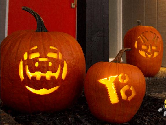 Dinotrux Pumpkin Stencils - Carve a Ty or Dozer Halloween Pumpkin