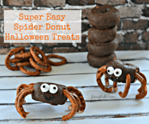 Easy Spider Donuts Halloween Treat Recipe