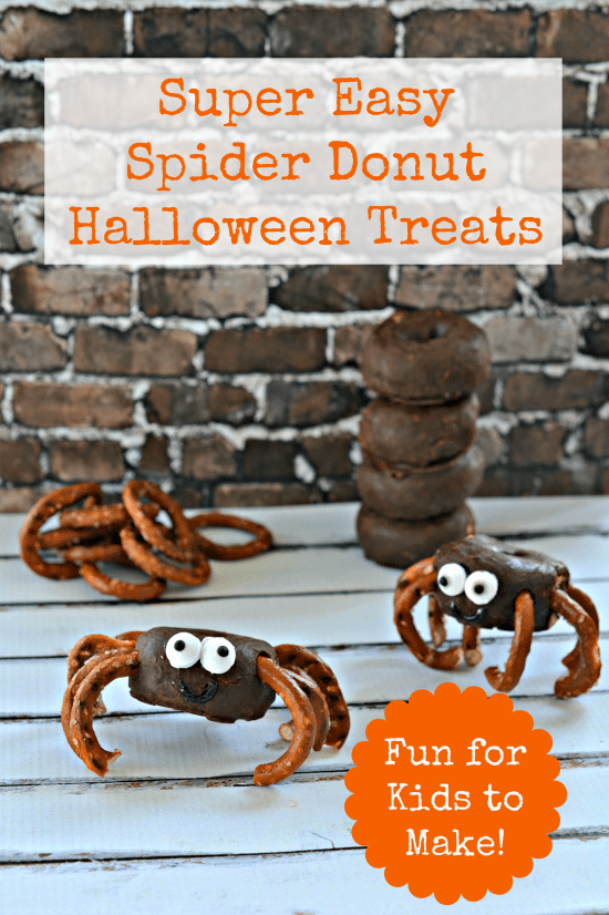 Super Easy Spider Donuts Halloween Treat Recipe