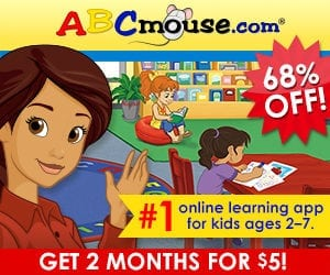#1 Online Kids Learning App Kids ABC Mouse 68% Off!