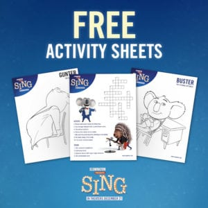 See SING! in Theaters December 21st – Printable Activity Sheets + Reader Giveaway