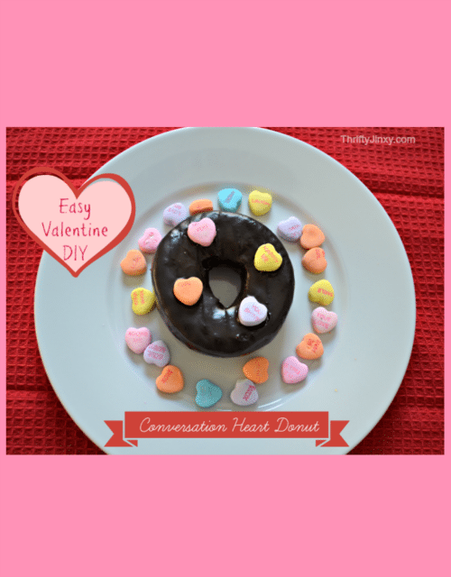 DIY Conversation Heart Donut