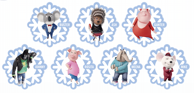 Free Printable Sing Ornaments Decorate Your Tree With Characters From Sing Jinxy Kids