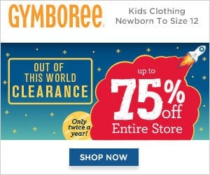 Gymboree Clearance Sale Up to 75% Off!