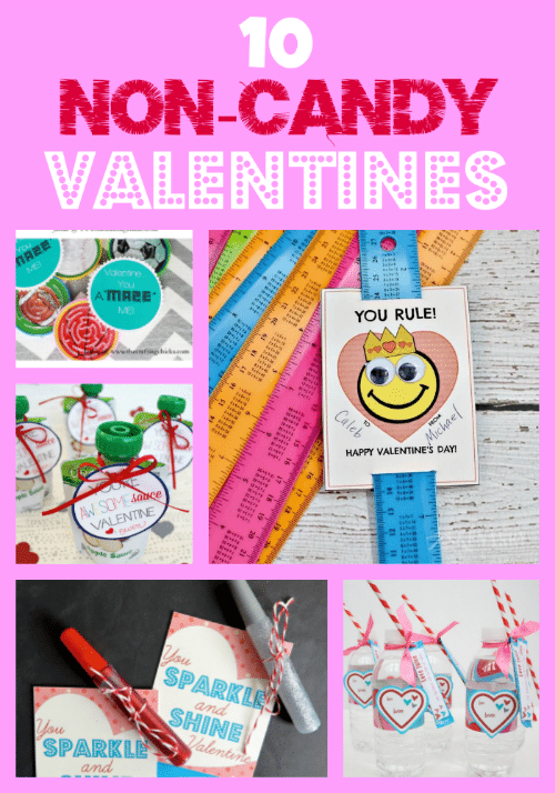 10 NonCandy Valentine Ideas with Free Printable Cards Jinxy Kids – Valentines Cards with Candy