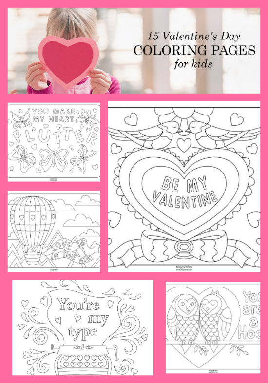 15 Valentine's Day Coloring Pages for Kids