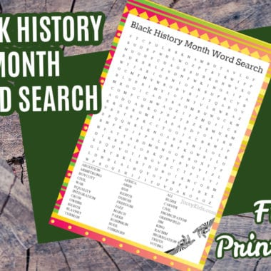Black History Month Word Search Puzzle