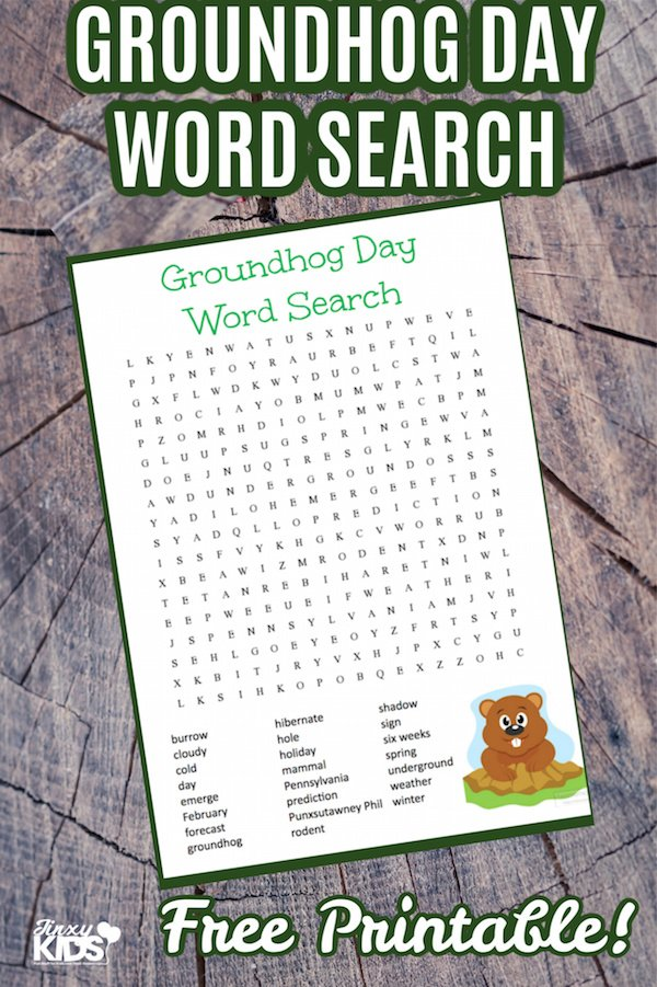 Groundhog Day Word Search Puzzle