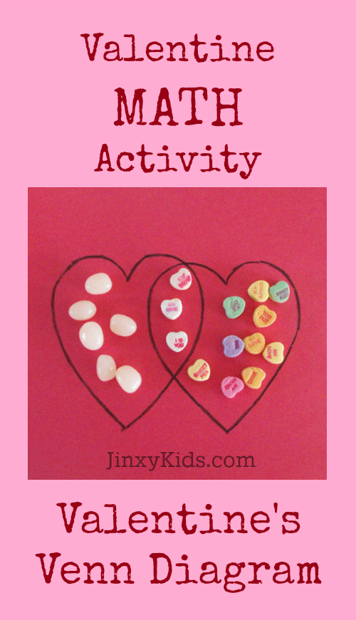 Valentine's Venn Diagram - In this simple Valentine math activity, your young learner will compare two types of Valentine's Day candy using a Venn Diagram.