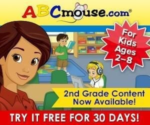 ABC Mouse – 2nd Grade Now Added! Try it FREE for 30 Days!