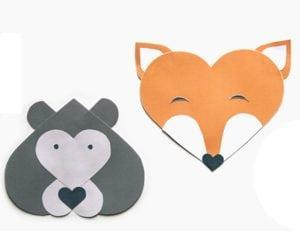 Heart-Shaped Valentine Animals Craft