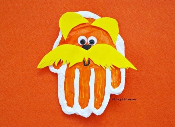 Lorax Hand Print Craft