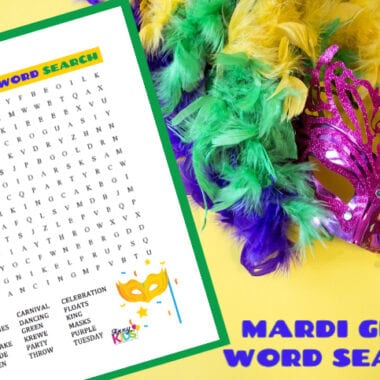 Mardi Gras Word Search Puzzle
