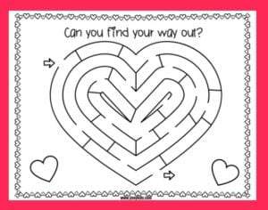 Printable Valentine Maze – A Fun Valentine's Day Activity Sheet