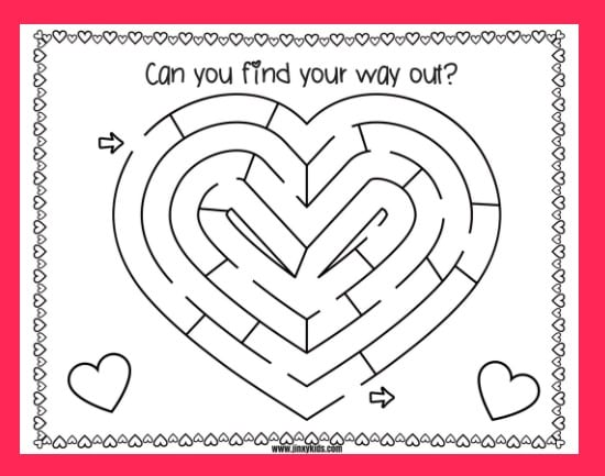 Printable Valentine Maze A Fun Valentine S Day Activity Sheet