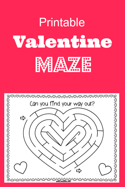 Your kids can use a pencil, crayon or marker to make their way through the maze. Once they have found their way, they can color in their heart maze.