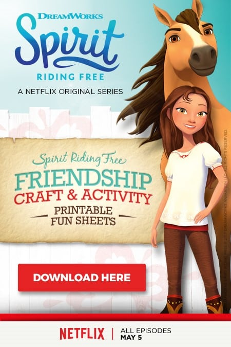 printable Spirit Riding Free activity sheets
