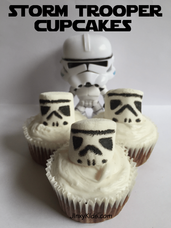 This Storm Trooper cupcakes recipe is perfect for a May the 4th party, a birthday party for a Star Wars fan, Star Wars family movie night, or just a super fun and yummy treat!