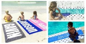 Personalized Beach Towels Perfect for Kids Just $24.99