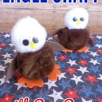 Childrens Eagle Craft with Pom Poms