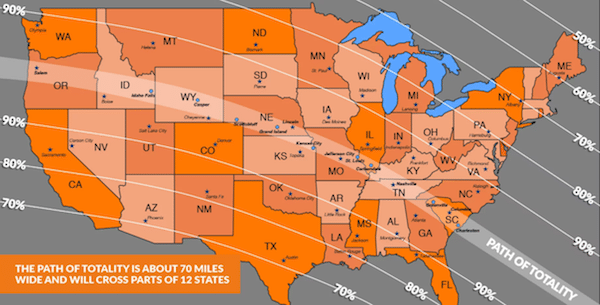 Solar Eclipse Map - Viewing Times