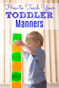 How to Teach Your Toddler Manners