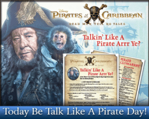Pirate Glossary and Guide to Talk Like a Pirate!
