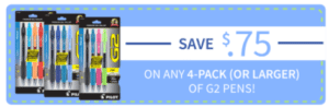 Save on Pilot G2 Pens for Back-to-School: Printable Coupon