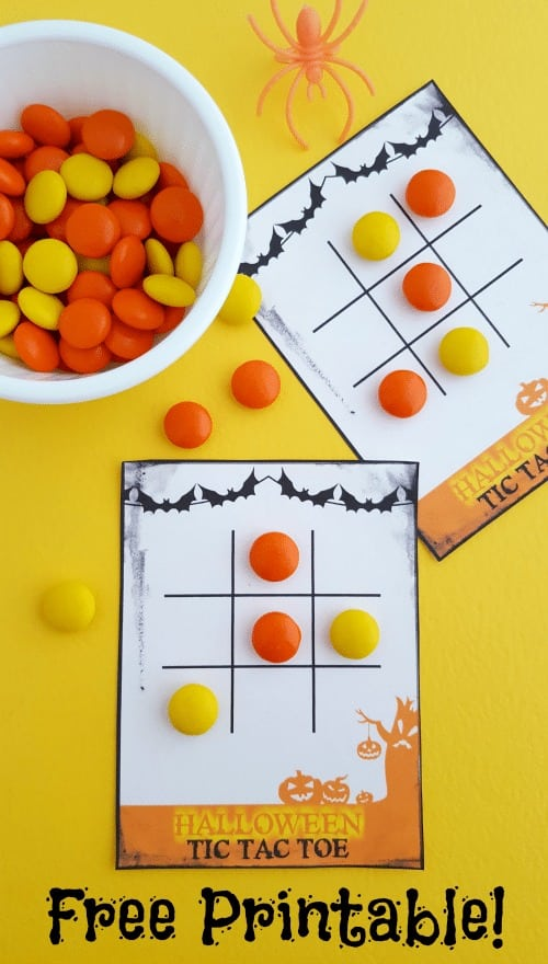 Free Printable Halloween Tic Tac Toe Game