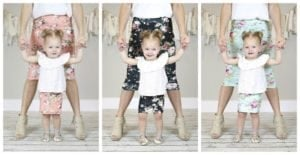 Mommy and Me Floral Pencil Skirts
