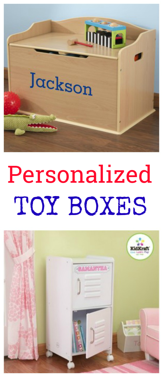 Personalized Toy Boxes - Make toy organization fun with your child's name added for personalization!