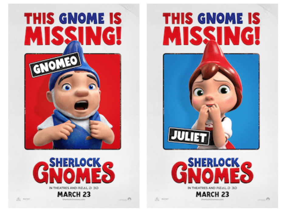 Gnomeo and Juliet Head to London in SHERLOCK GNOMES + Reader