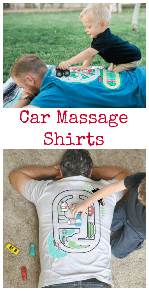 These Car Massage Shirts make a great gift for Dad or Grandpa. They get a comfy shirt AND the benefit of endless massages!