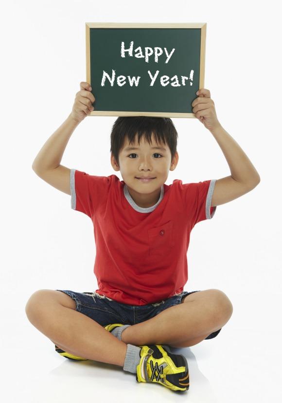 Happy New Year Child Chalk Board