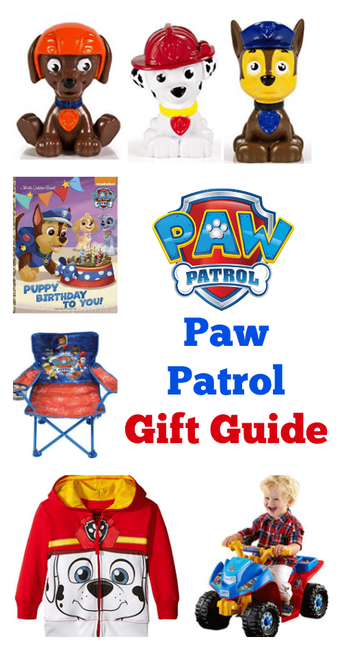 Paw Patrol Gift Guide - Check out this big list of Paw Patrol toys, books, clothing and more that any little Paw Patrol fan will love! #PawPatrol #Gifts