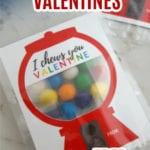 DIY Gumball Machine Valentine