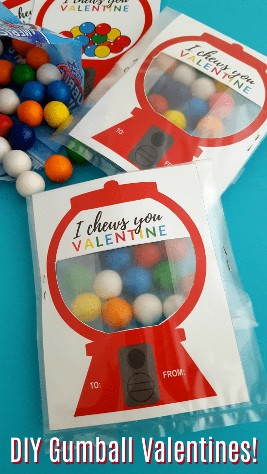 DIY Gumball Machine Valentine Craft