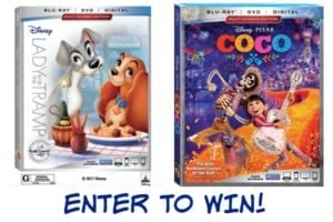 Lady and the Tramp AND Coco on Blu-ray February 27th + Reader Giveaway