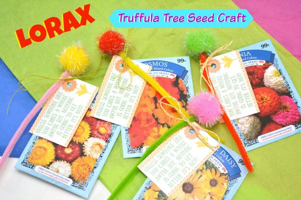 graphic regarding Truffula Seeds Printable named Lorax Truffula Tree Seed Craft - Jinxy Little ones