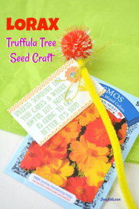 Lorax Truffula Tree Seed Craft