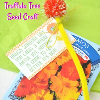 Lorax Truffula Tree Seed Craft