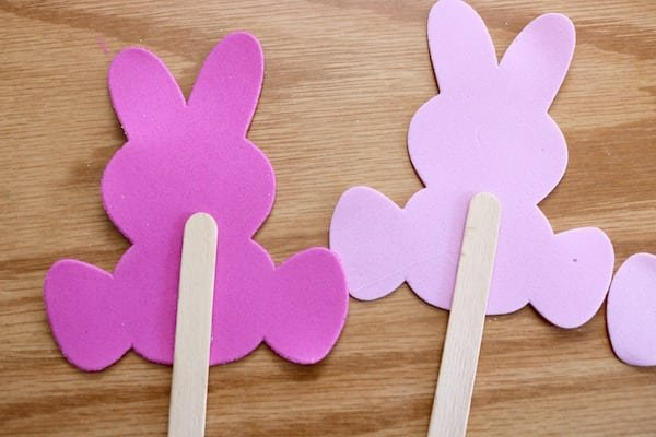 Funny Bunny Craft Sticks