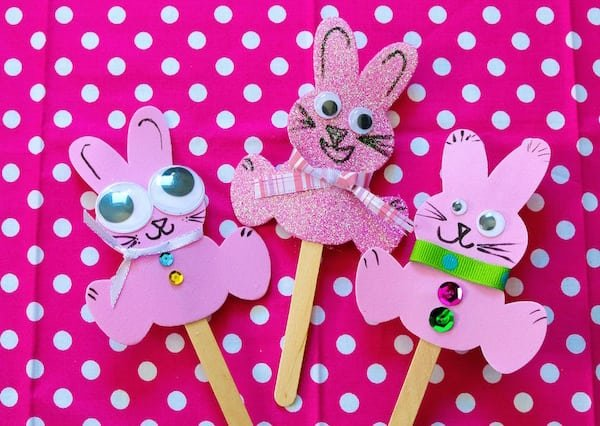 Make this Funny Bunny Craft using craft foam, craft sticks and embellishments. They can help celebrate spring or Easter or to accompany bunny-themed books.